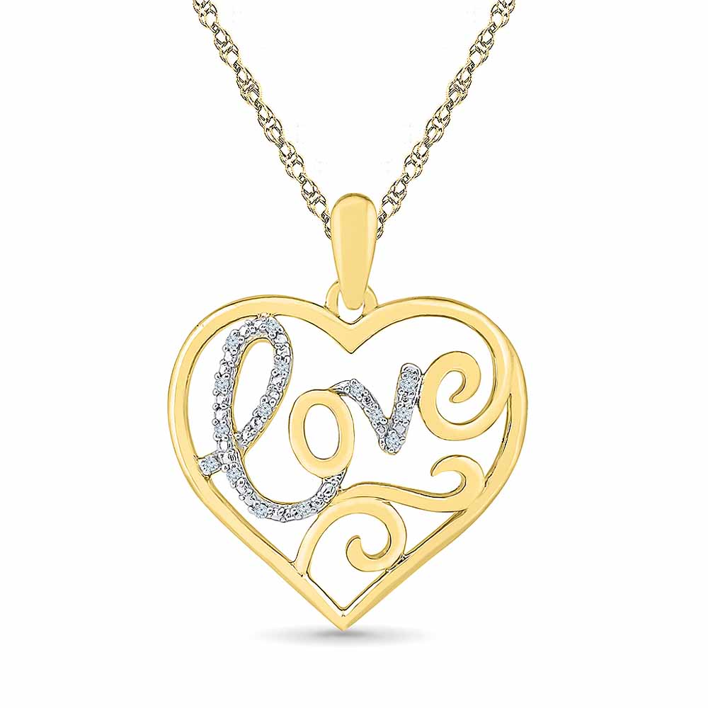 Love Heart Diamond Pendent