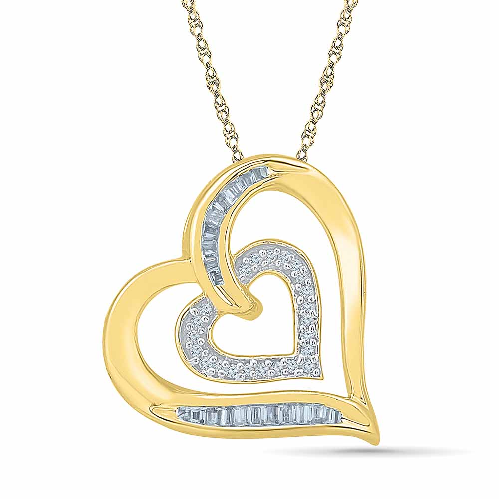 Goldie Heart Diamond Pendant
