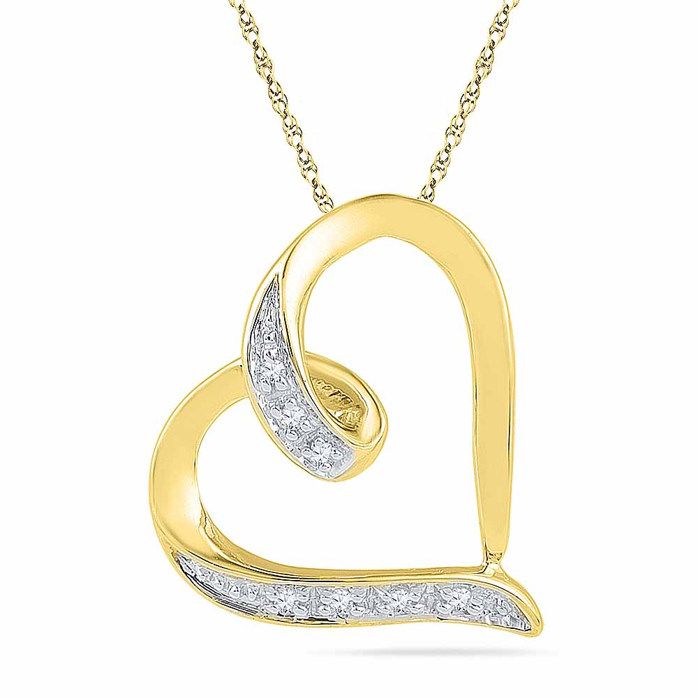 18 Kt Gold Darling Heart Diamond Pendant