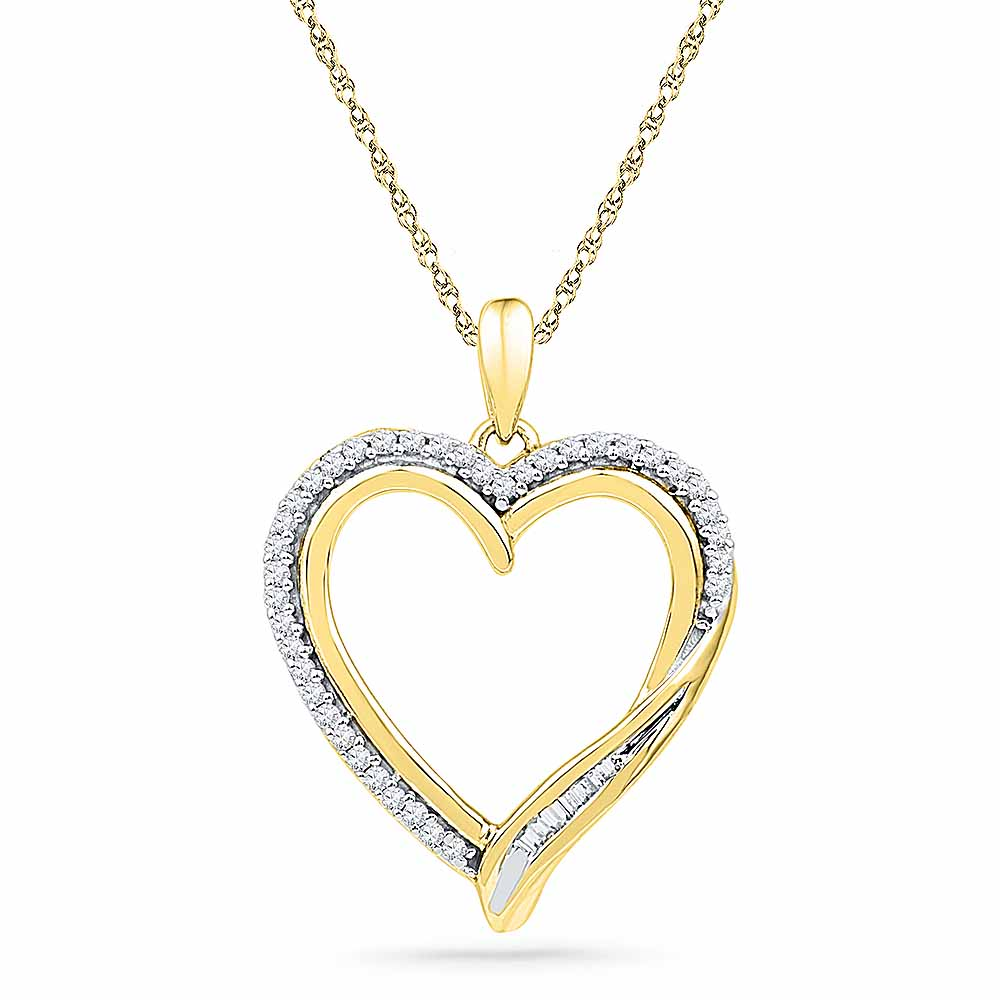 18 Kt Gold Flawless Heart Diamond Pendant