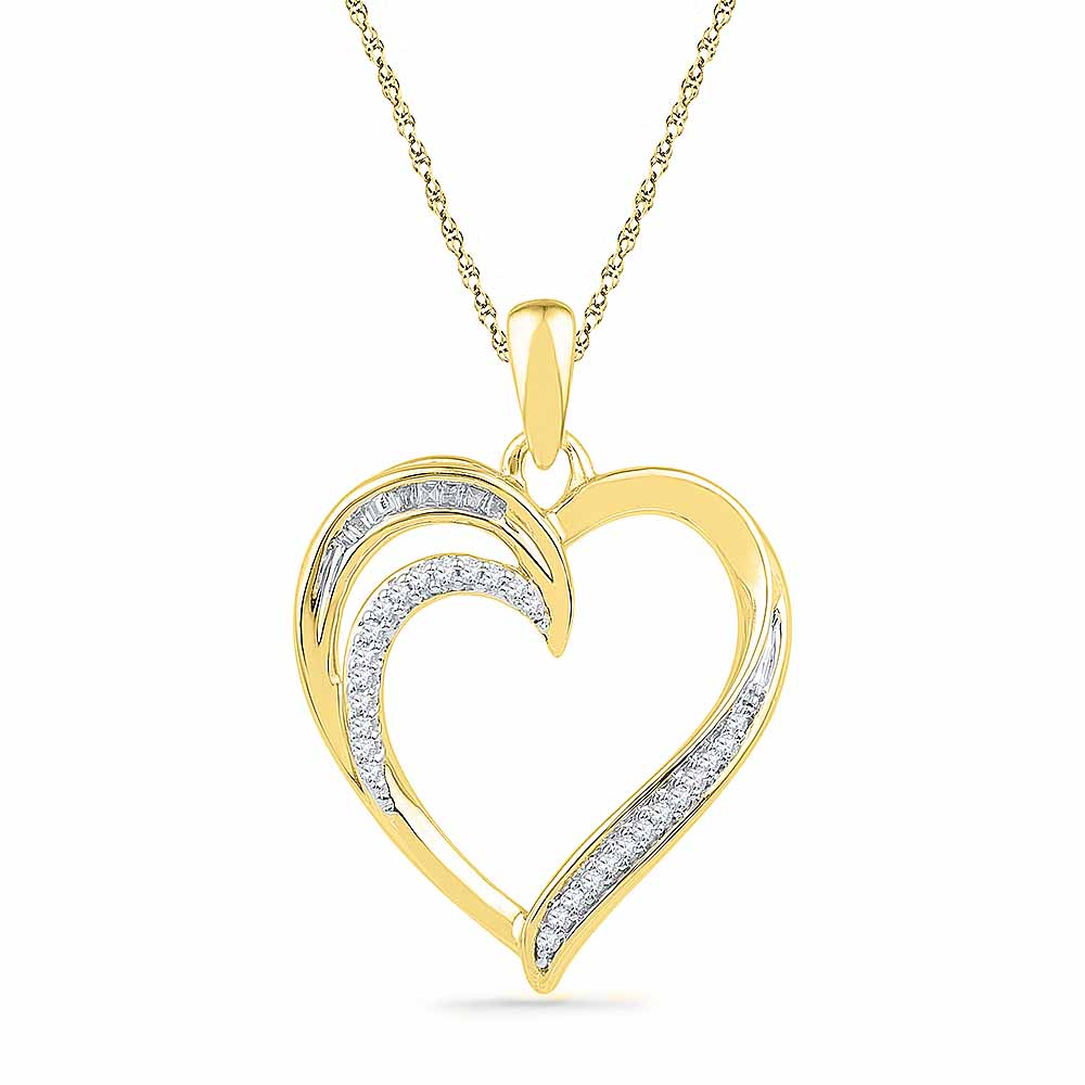 18 Kt Gold Treasure Heart Diamond Pendant