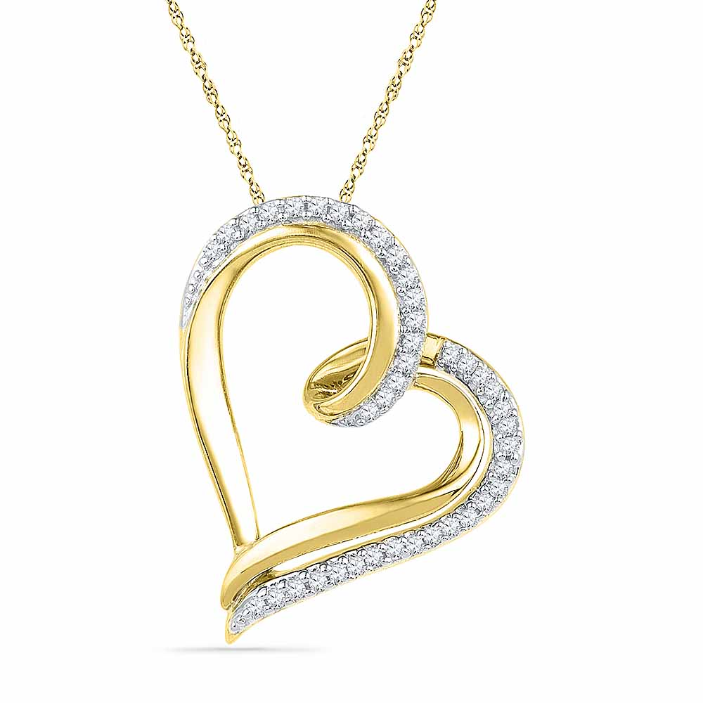 18 Kt Gold Premium Heart Diamond Pendant