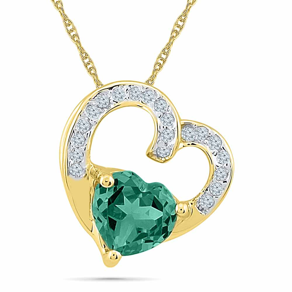 Mature Emerald Diamond Pendant