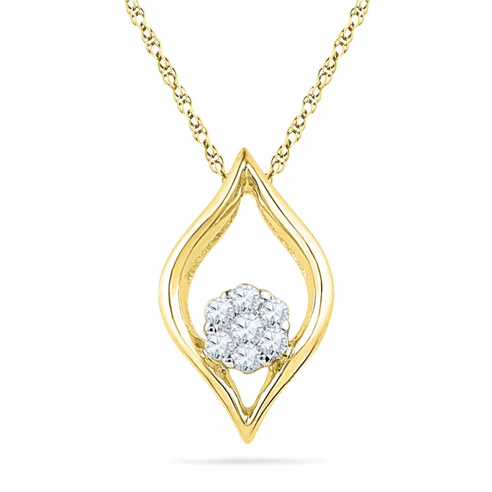 Eye-Ball Diamond Pendant