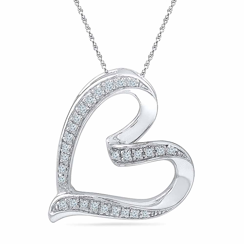 Lovely Heart Diamond Pendant