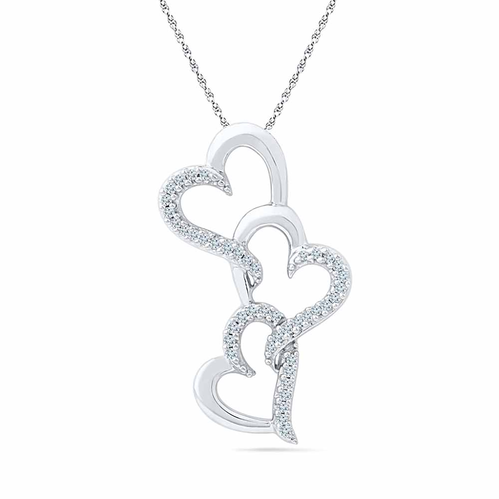 Triple Heart Diamond Pendent