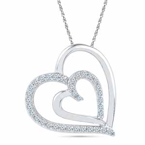 Diamond Pendants-Deepest Passion Diamond Pendent