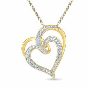 Diamond Pendants-My Heart Diamond Pendant