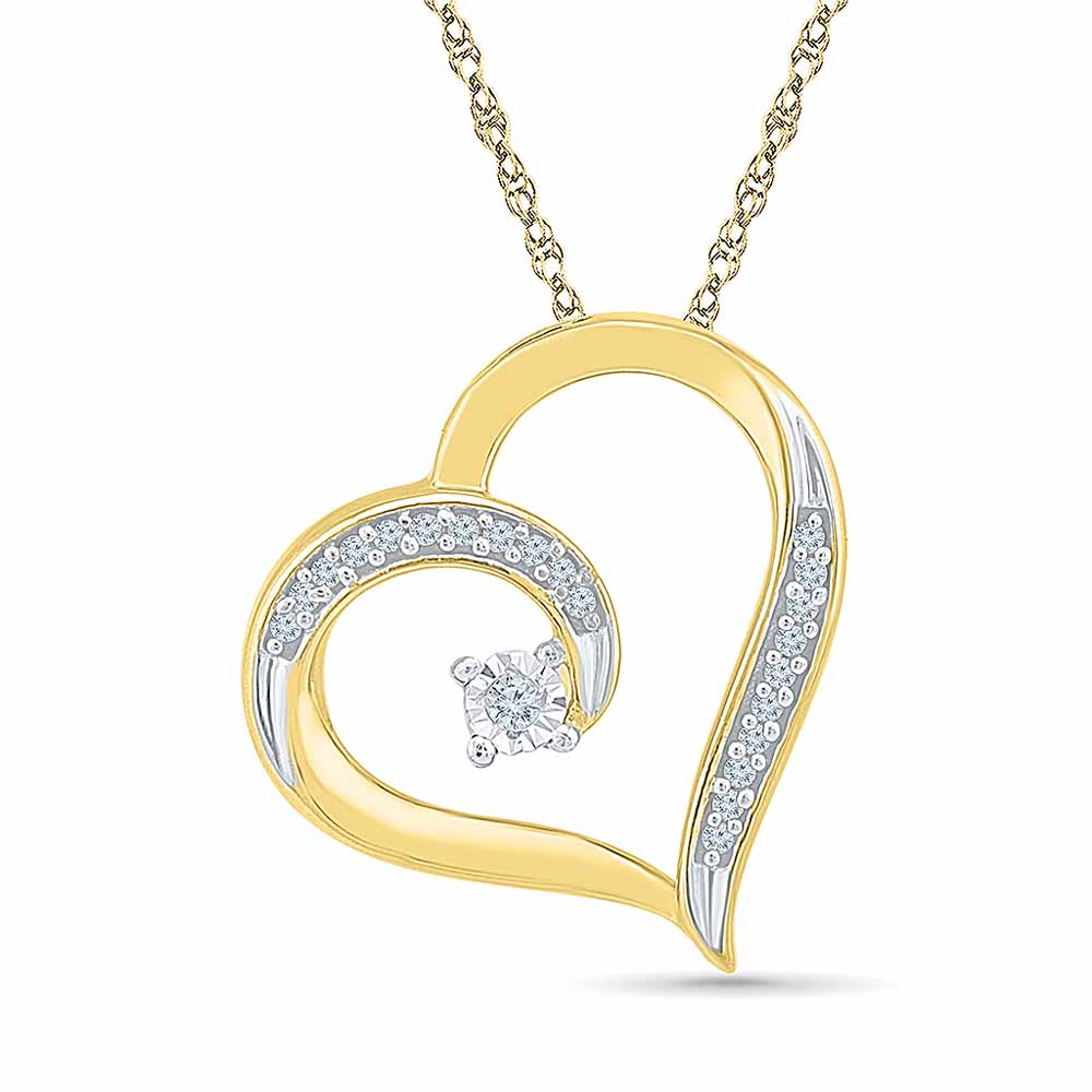 You Are In My Heart Diamond Pendant