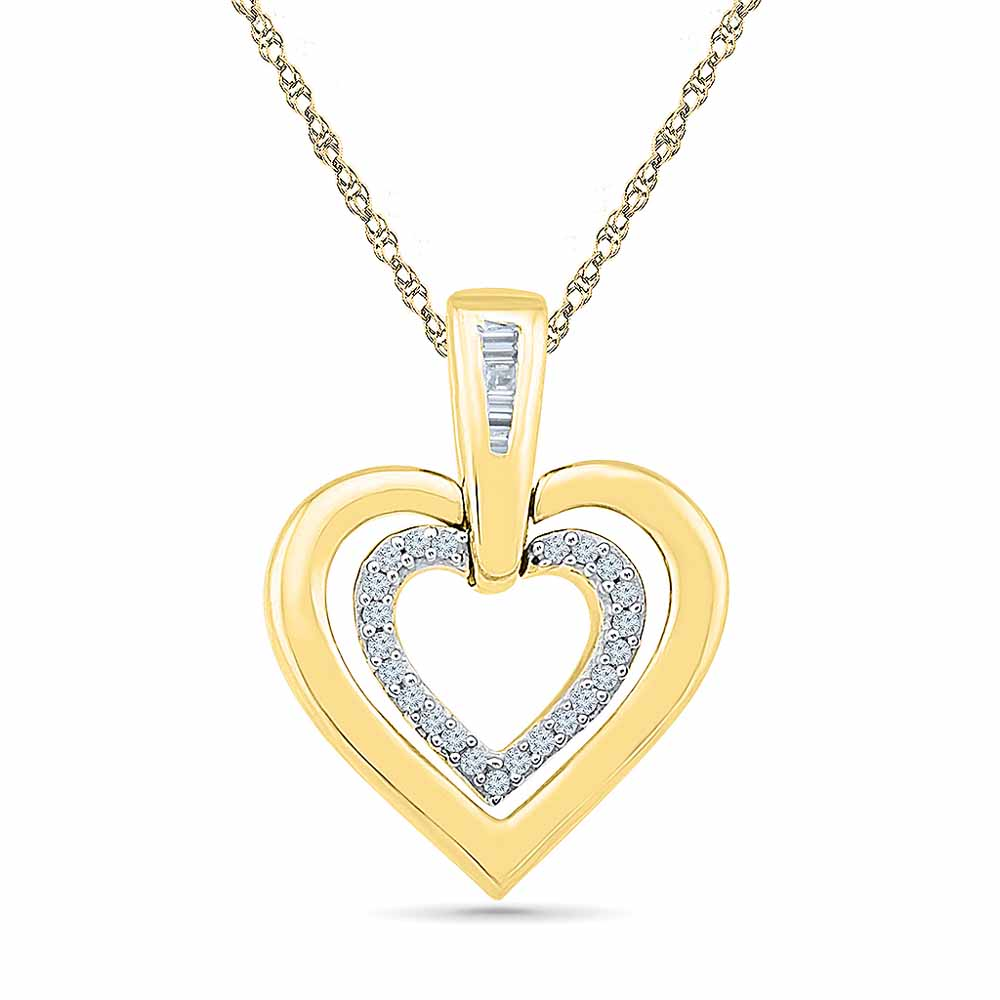 Heart Diamond Pendant Set