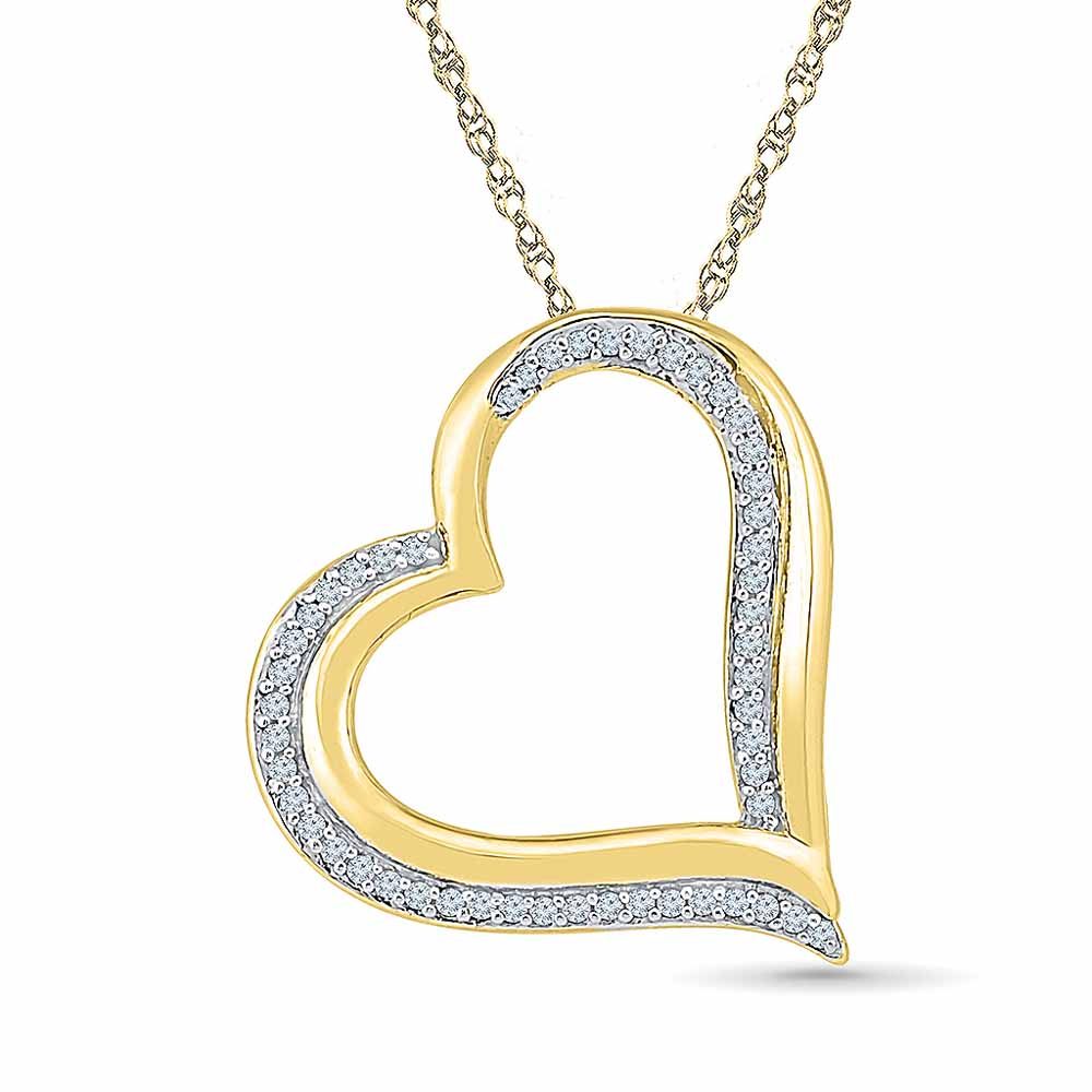 Heart In Heart Diamond Pendent