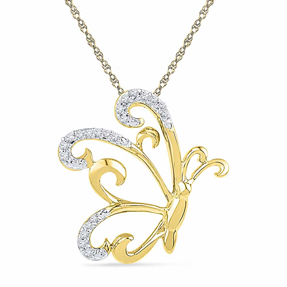 Butterfly Diamond Pendent