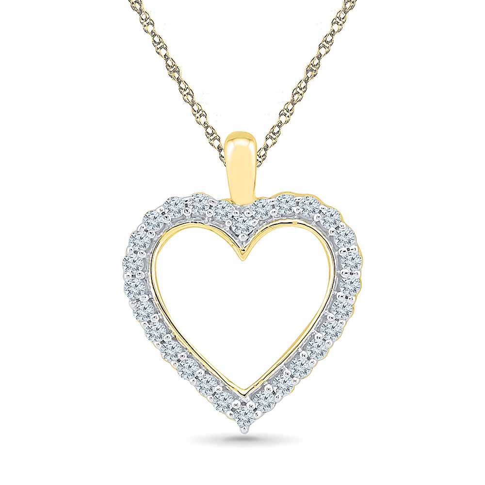 Honey Heart Diamond Pendent