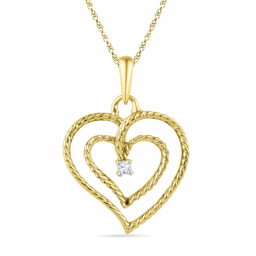 Special Double Heart Diamond Pendant
