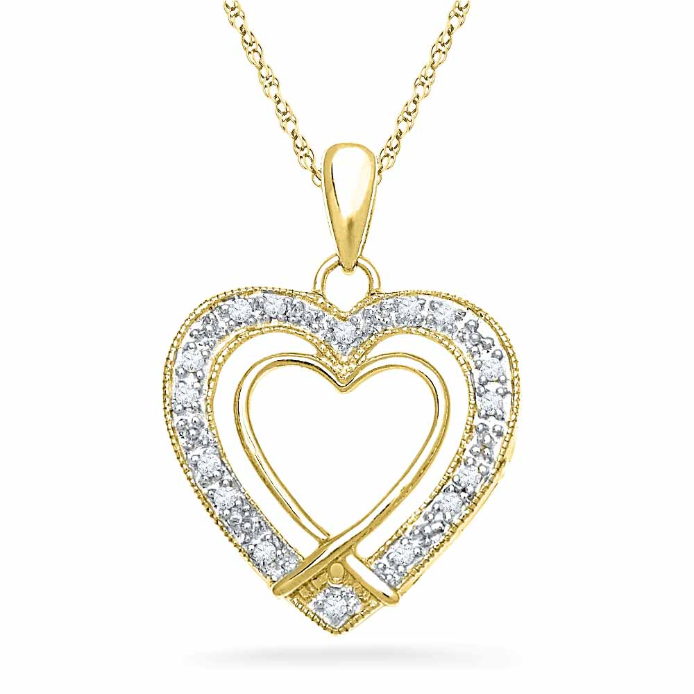 18 Kt Gold Ever Lasting Diamond Pendant