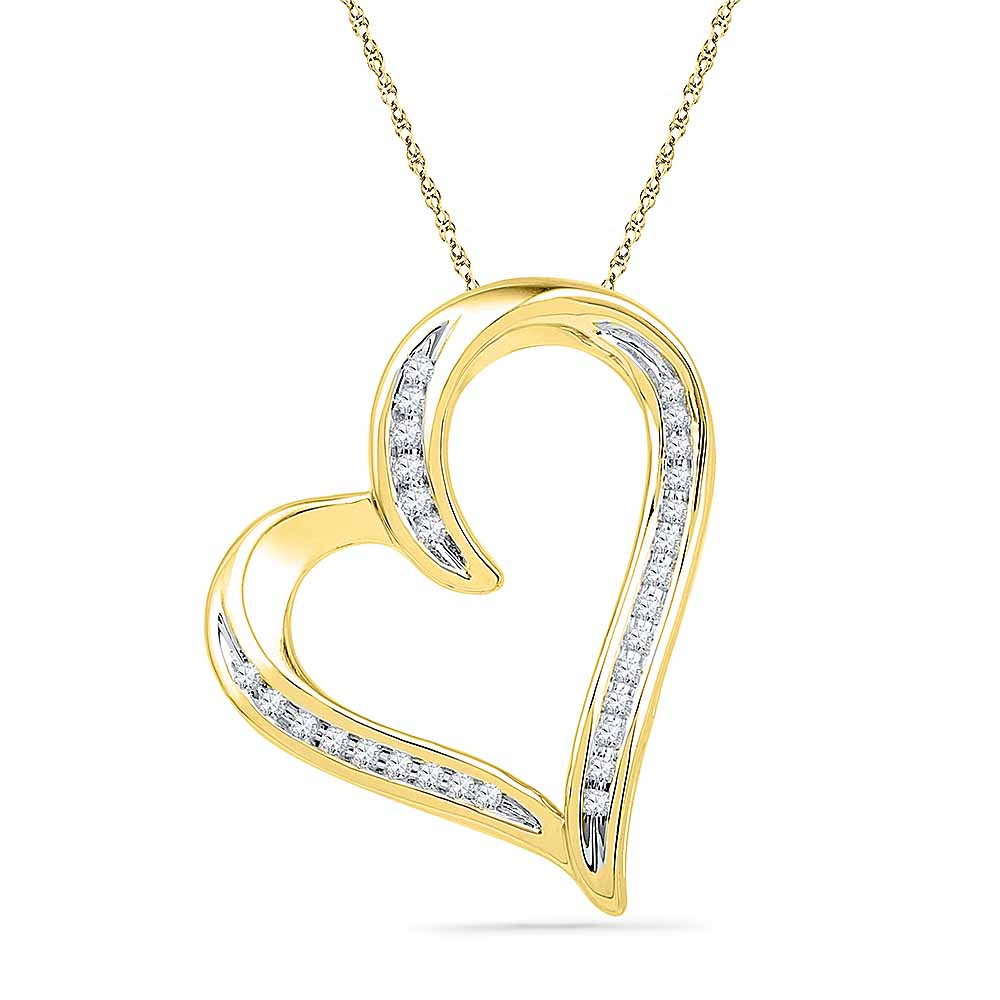 18 Kt Gold Humble Heart Diamond Pendant