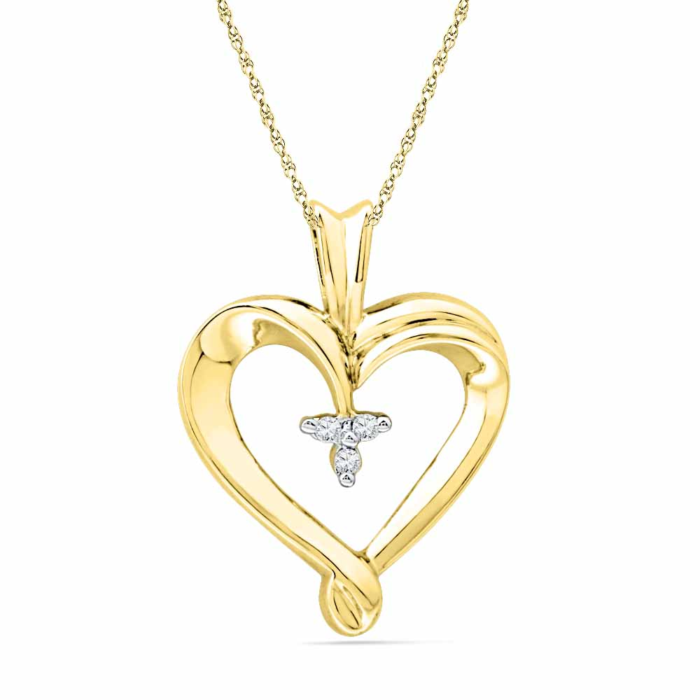 18 Kt Gold Cutie Pie Heart Diamond Pendant