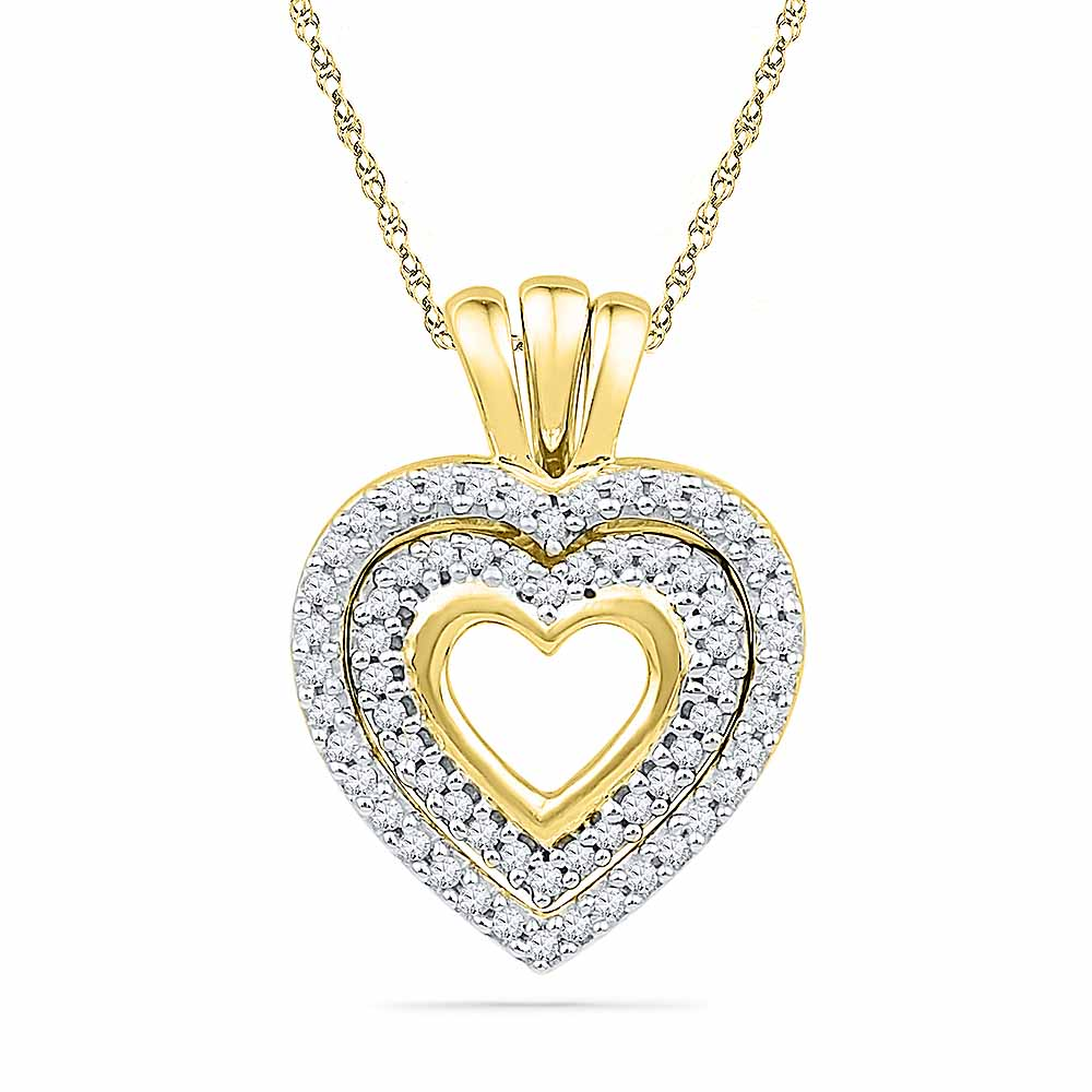 18 Kt Gold Charming Heart Diamond Pendant