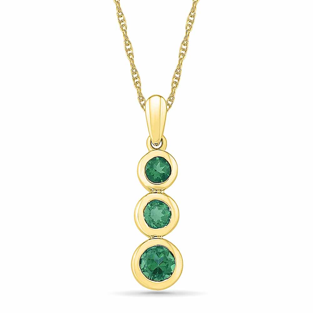 Diamond Pendants-Marvelous Emerald Pendant