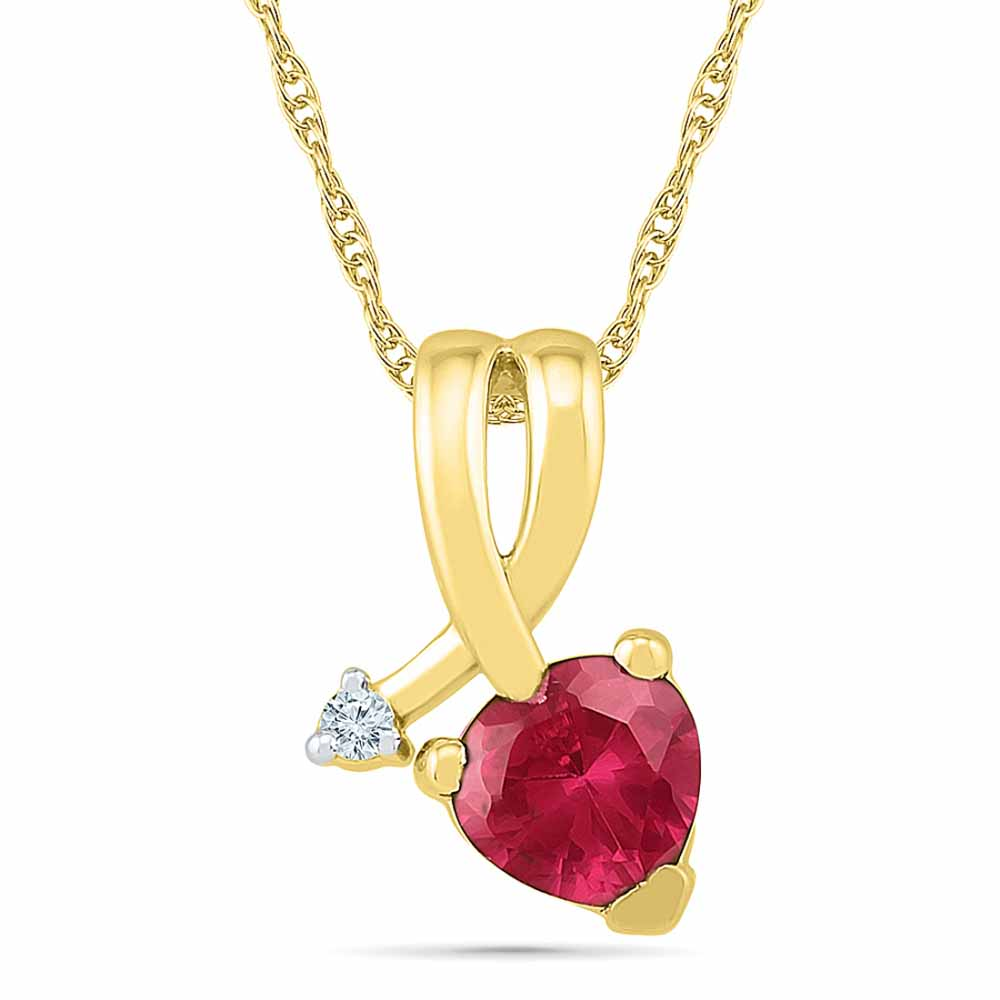 Heart Ruby Pendant
