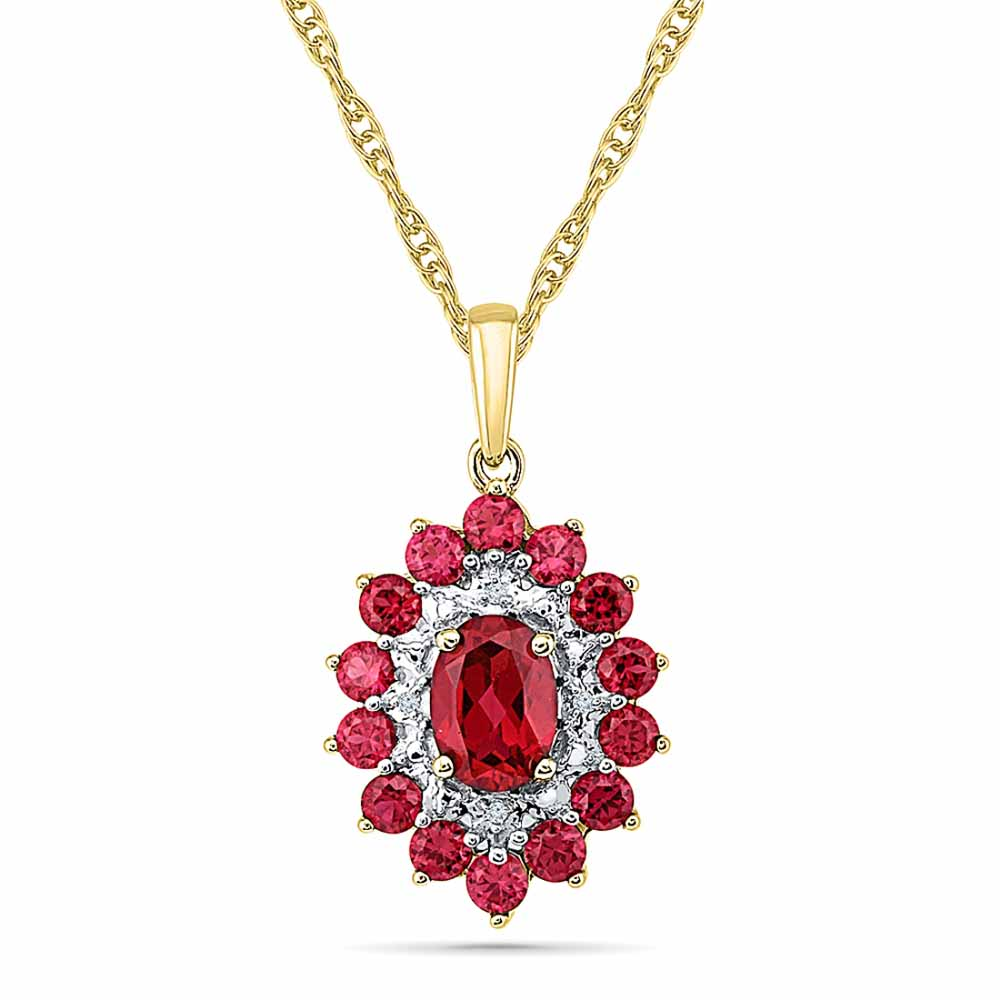Modest Ruby Pendant