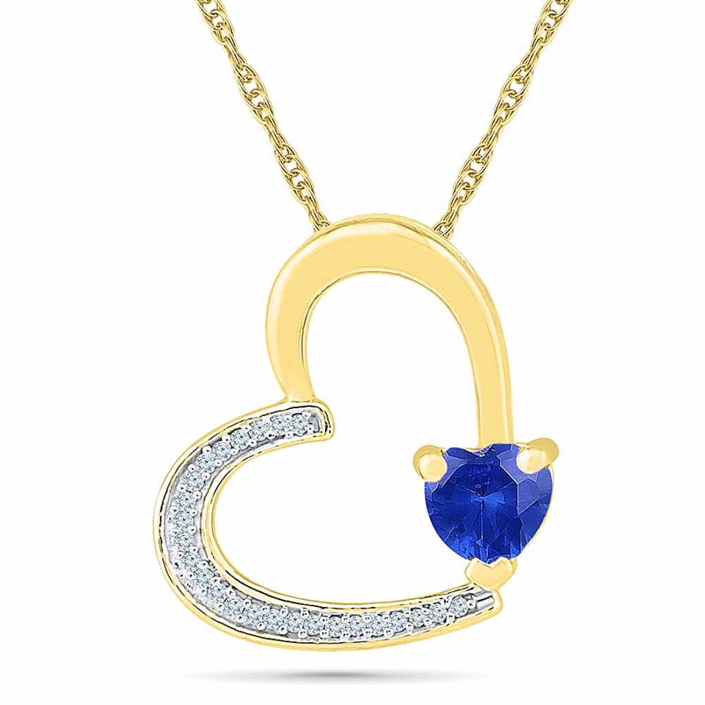 Heartly Blue Sapphire Pendant