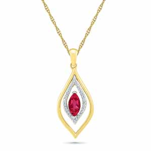 Diamond Pendants-Passionate Ruby Pendant
