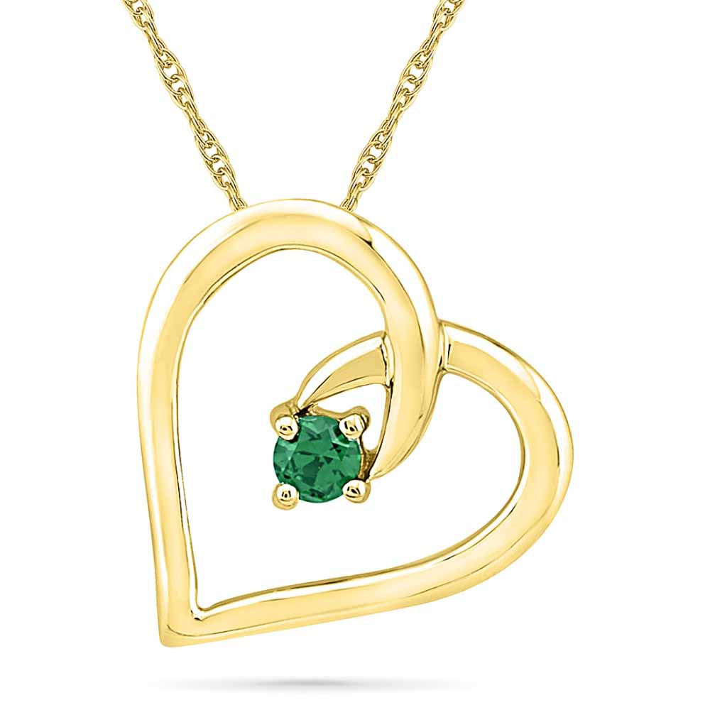 Diamond Pendants-Passionate Emerald Pendant