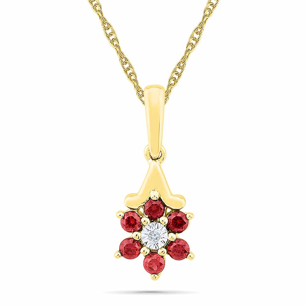 Ruby With Diamonds Pendant