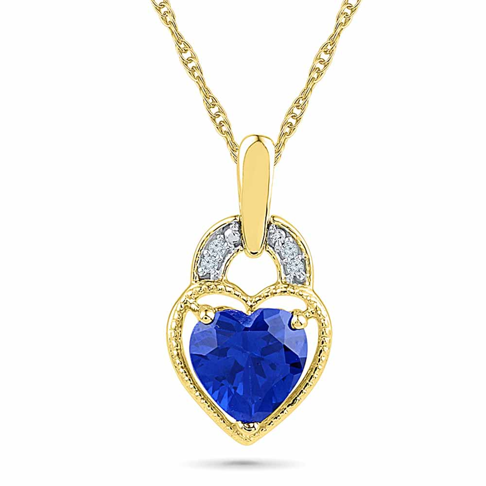 Hanging Heart Diamond Pendant