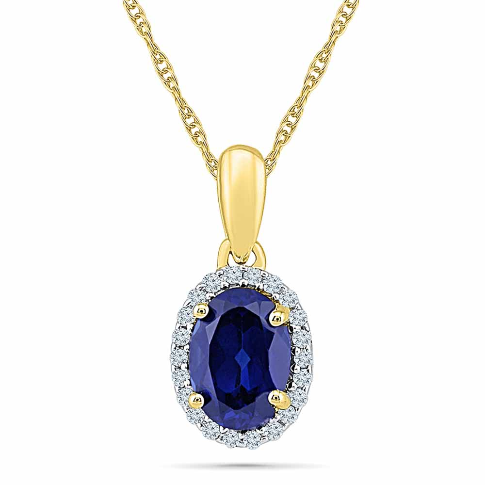 18Kt 1.49 Grams Gold & Diamond Pendant