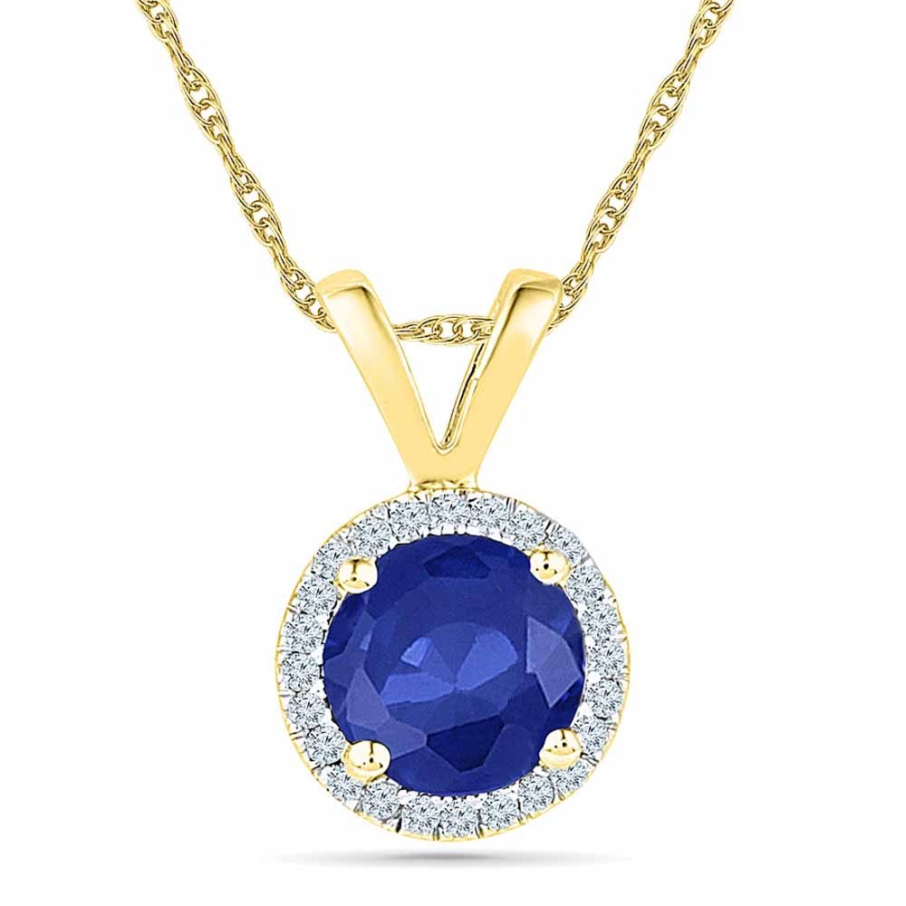 18Kt 1.57 Grams Gold & Diamond Pendant