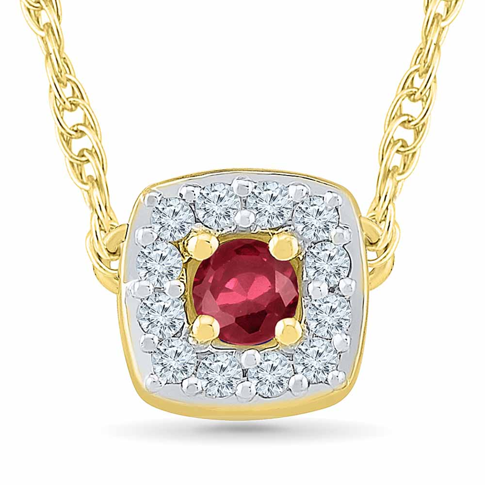 Ruby 18Kt 1.67 Grams Gold & Diamond Pendant