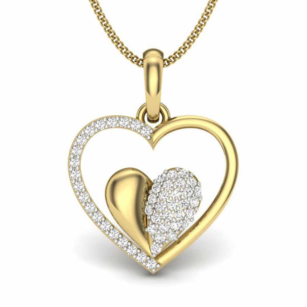 Riya Heart In Heart Diamond Pendant