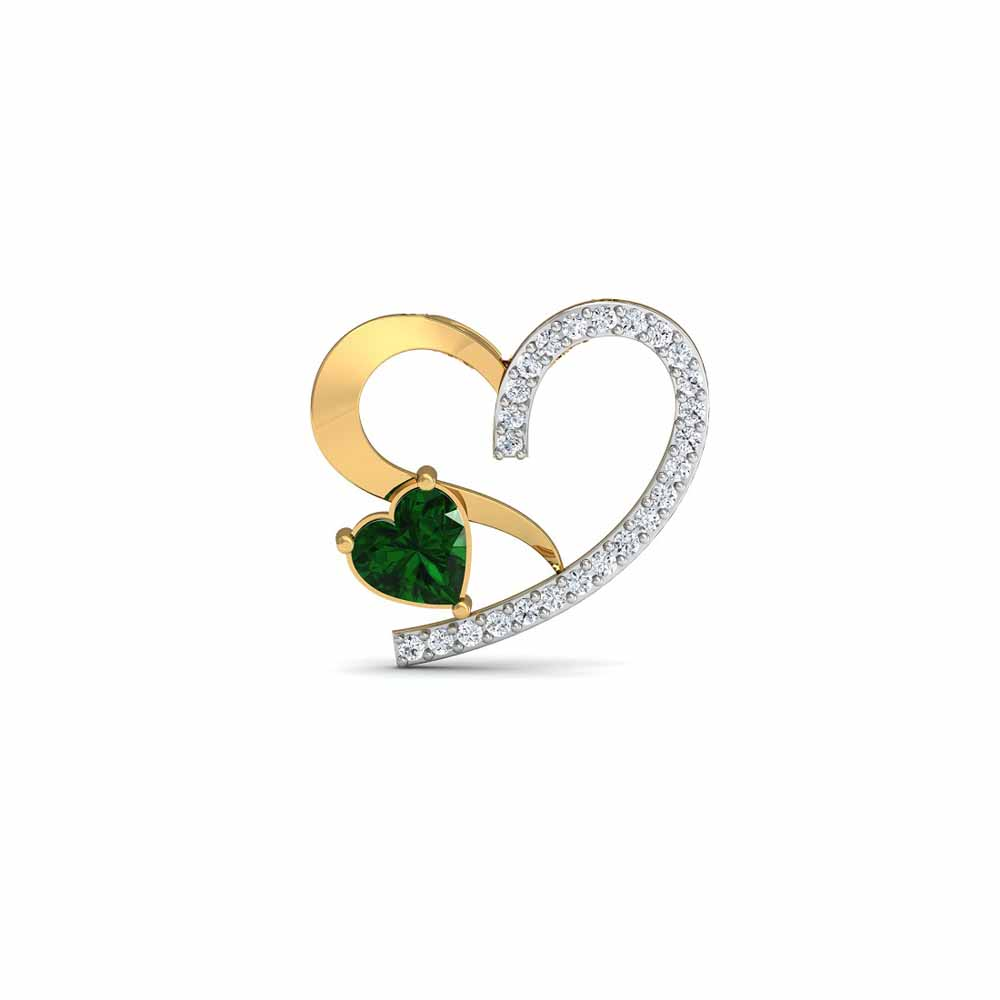 Valerio Emerald Diamond Pendant