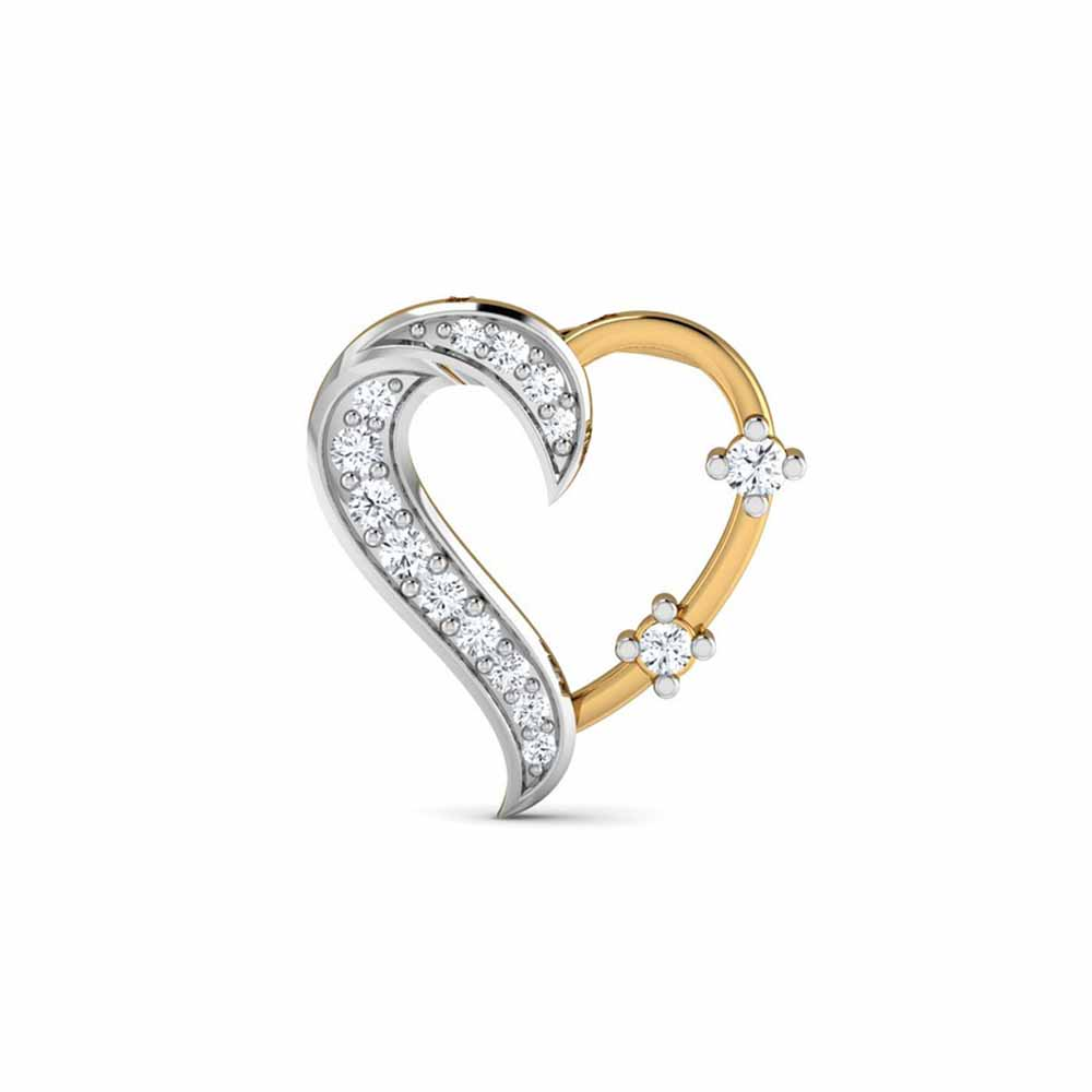 Diamond Pendants-Risvita Heart Diamond Pendant
