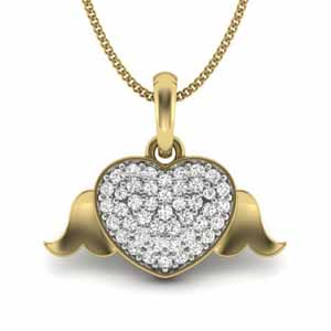 Diamond Pendants-Royal Heart Diamond Pendant