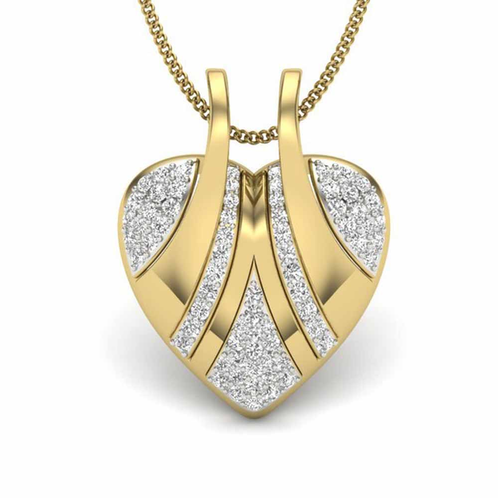 Creative Heart Diamond Pendant