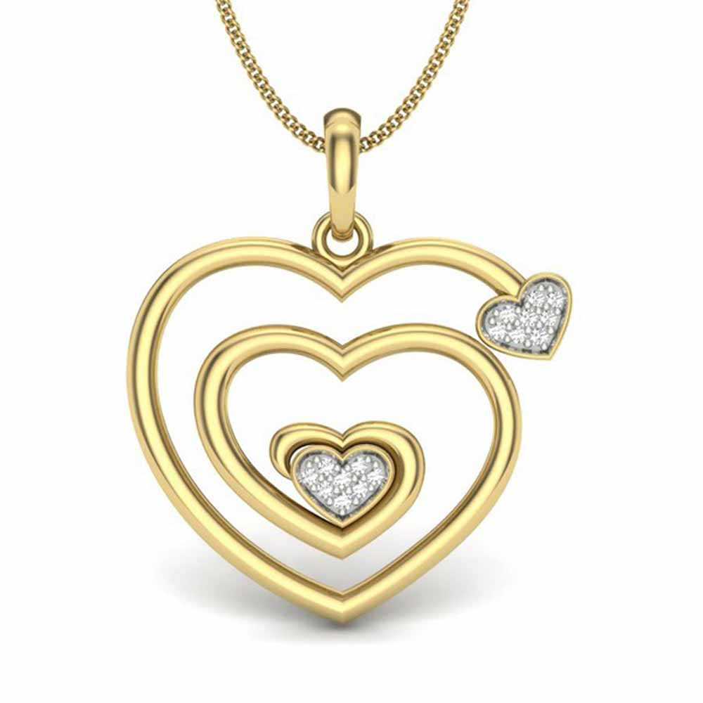 Spiral Heart Diamond Pendant