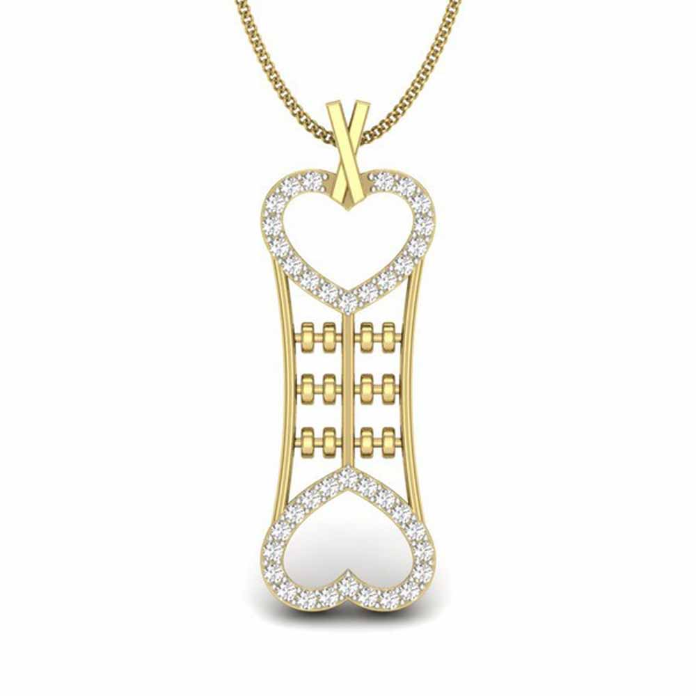 Mirror Heart Diamond Pendant