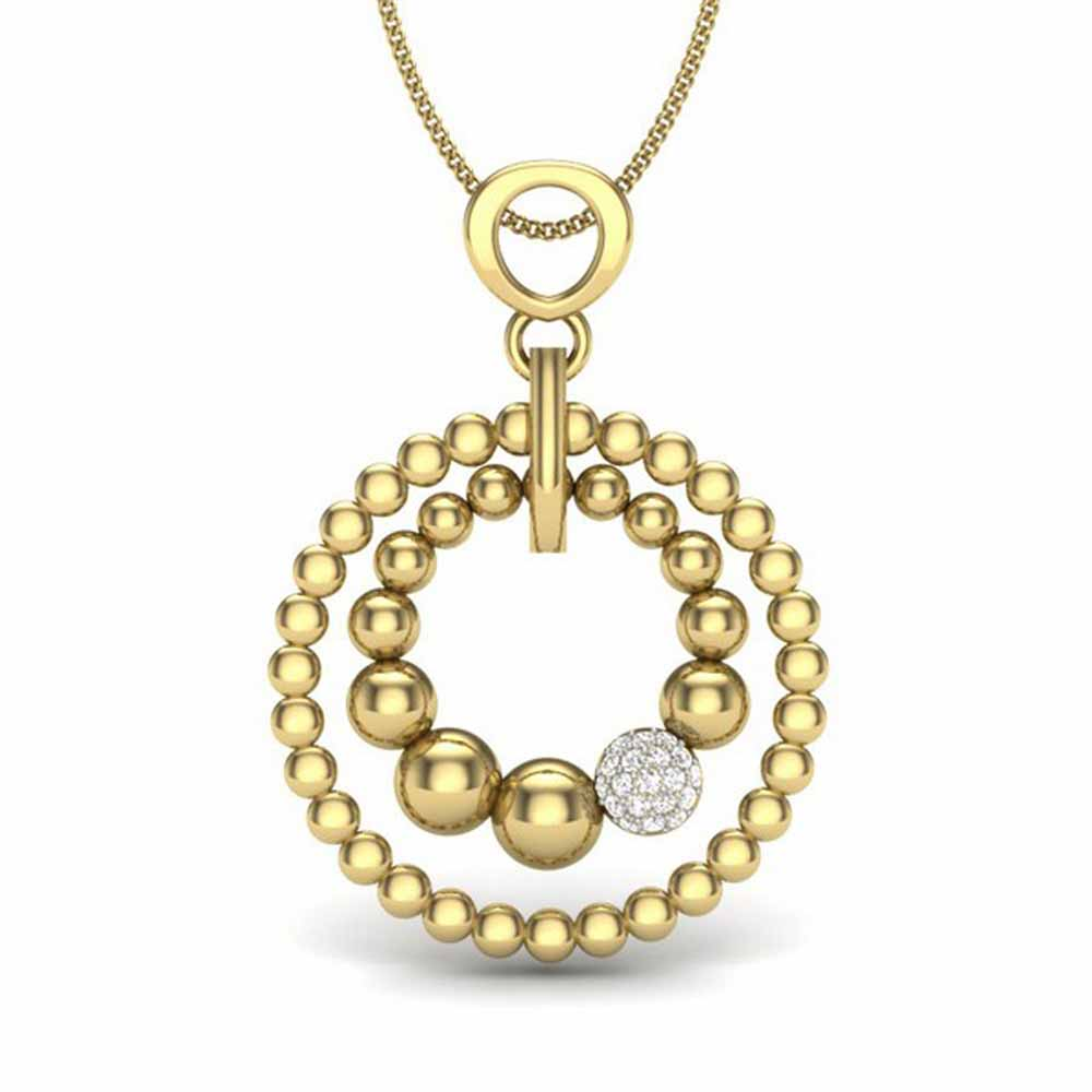 Golden Diamond Pendant