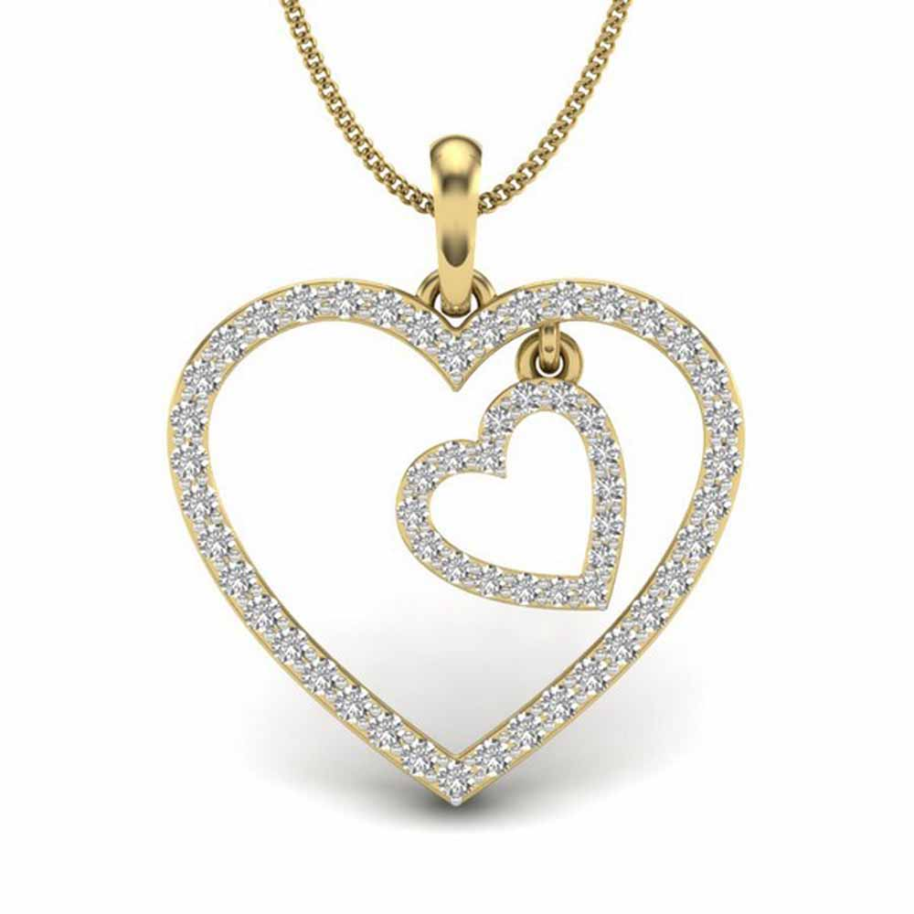 Riya Heart Diamond Pendant