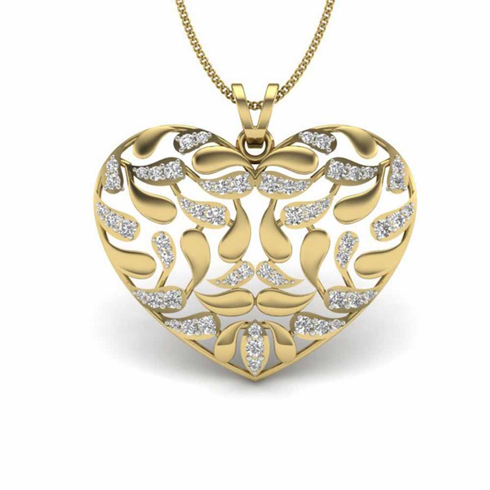 Rogan Heart Diamond Pendant