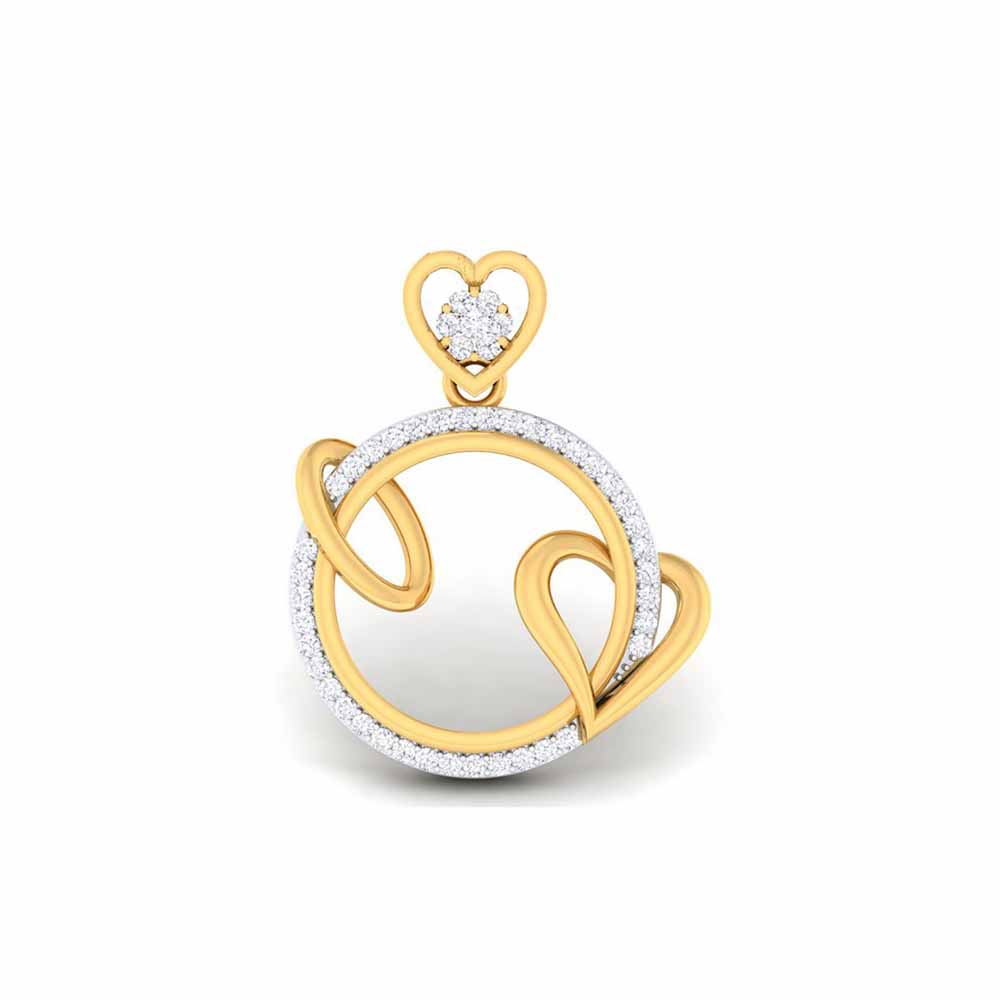 Diamond Pendants-Ashilla Heart Diamond Pendant