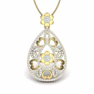 Diamond Pendants-Harmonie Diamond Pendant