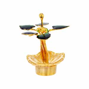 Spiritual Accessories-Sri Jagdamba Pearls Golden Tulsi Stand