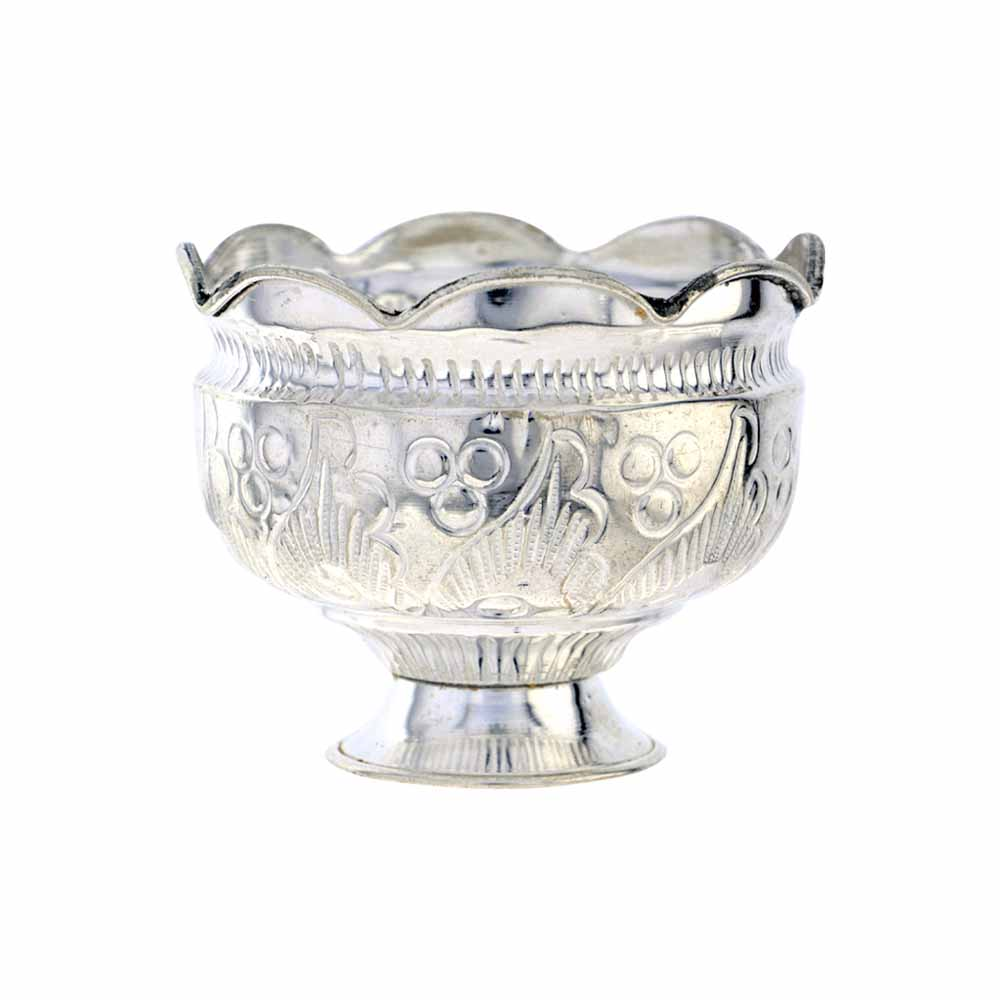 Sri Jagdamba Pearls Silver Flower Bowl