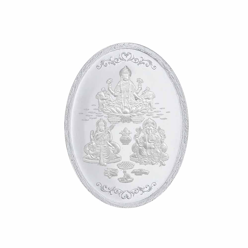 Oval Silver Coin