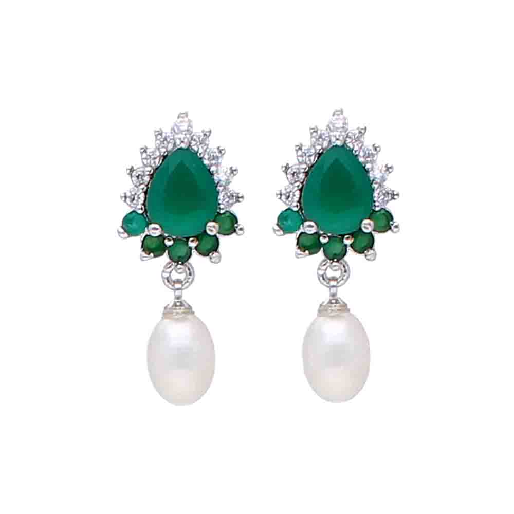 Sparkling Pearl Earrings