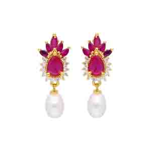 Pearl Earrings-Sparkle Pearl Earrings